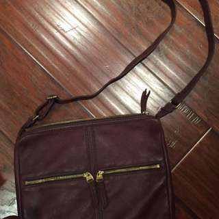 Brown Leather Fossil Purse
