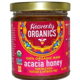美國直送Heavenly Organics 100%有機相思蜂蜜 不含農藥和抗生素 340g