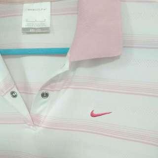 NiKe粉紅POLO衫