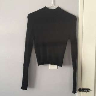 Mod High Neck Black Sweater