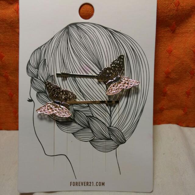 純鋼蝴蝶髮夾