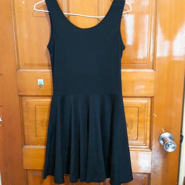 黑色棉質背心裙