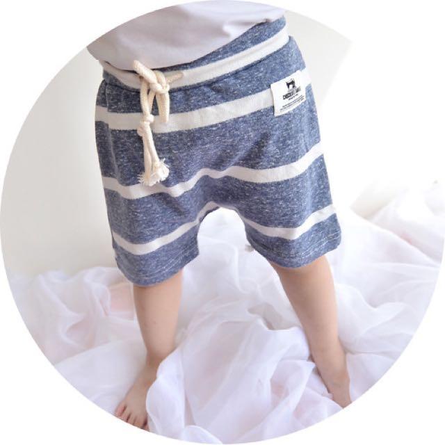 👶🏻多色條紋後方袋百搭短褲