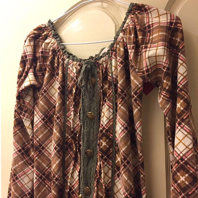 秋冬短連身洋裝