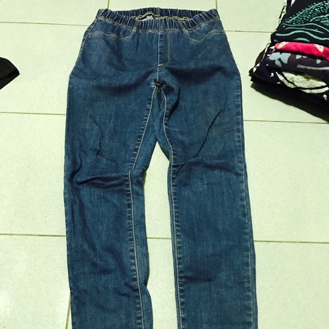 牛仔韓版內搭外穿內搭牛仔褲丹寧褲長褲合身窄版