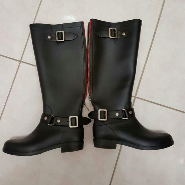 造型拉鍊式雨靴 (36號)