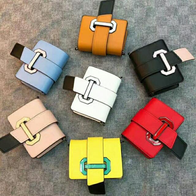 專櫃質感包包 新款拼色小包