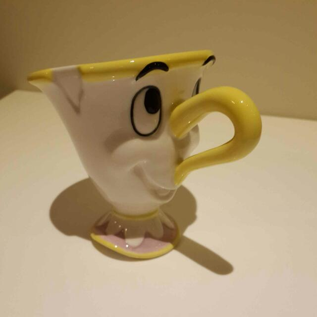 【日本空運】正版迪士尼 美女與野獸 chip 阿齊 阿奇 迪士尼杯子 陶瓷
