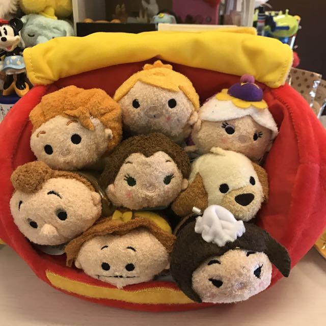 全新 美國迪士尼商店 美女與野獸Tsum Tsum 組合(含運)