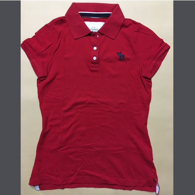 abercrombie&Fitch 紅色polo衫S號 正品