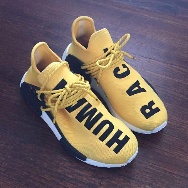 913cce3a73fd1 Adidas NMD x Pharrell Williams Hu  Human Race  Yellow Primeknit OG ...