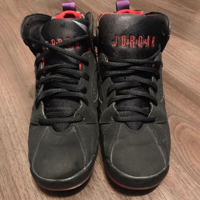 Air Jordan VII Black/True Red-Dark Charcoal-Club Purple