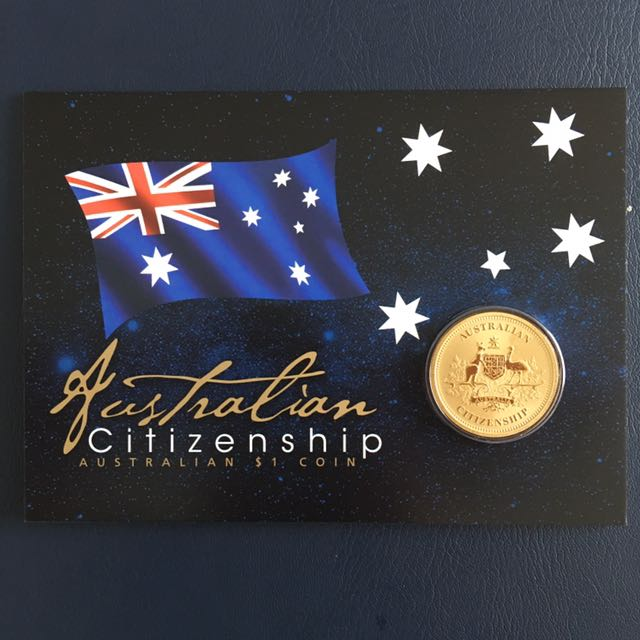 Australian Citizenship $1 Coin