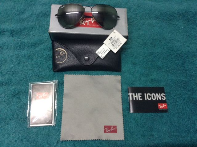 Authentic Ray Ban Aviator all black UNISEX