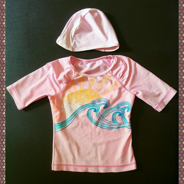Set Baju Renang Girls + Swimming Cap