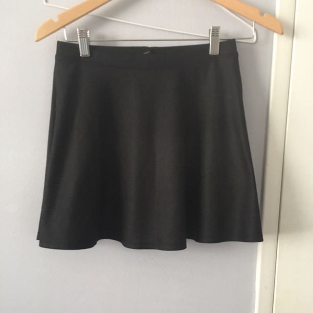 Basic Black A Line Skirt