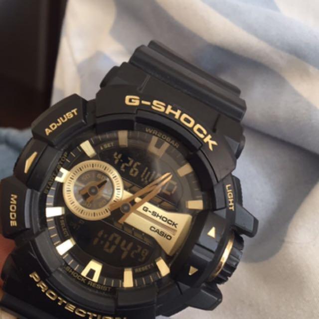 Black & Gold G-Shock Watch