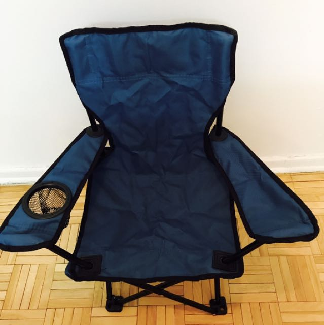 Blue camping chair for sale