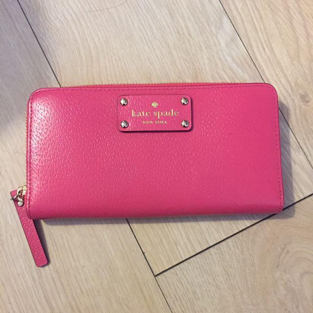 BNWT Authentic Kate Spade Pink Zippy Wallet