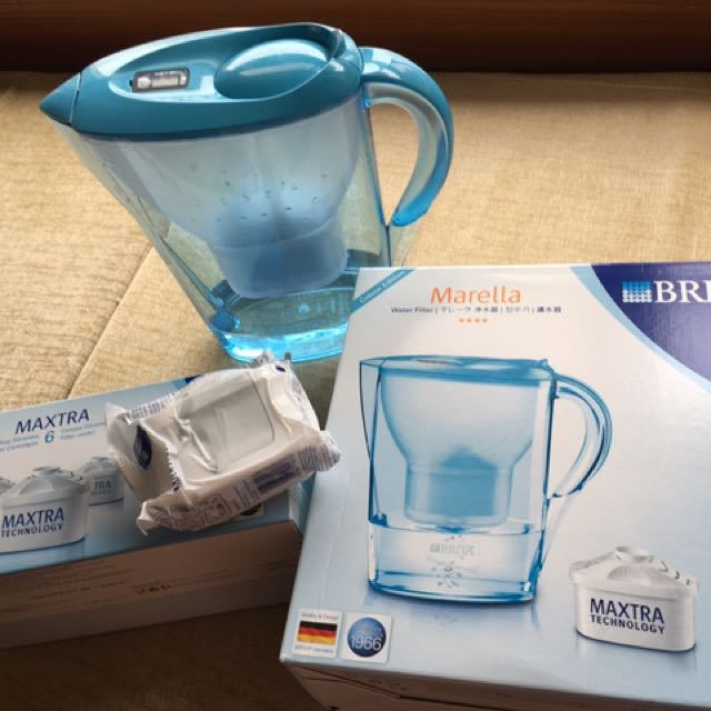 BRITA 濾水器+濾芯5個