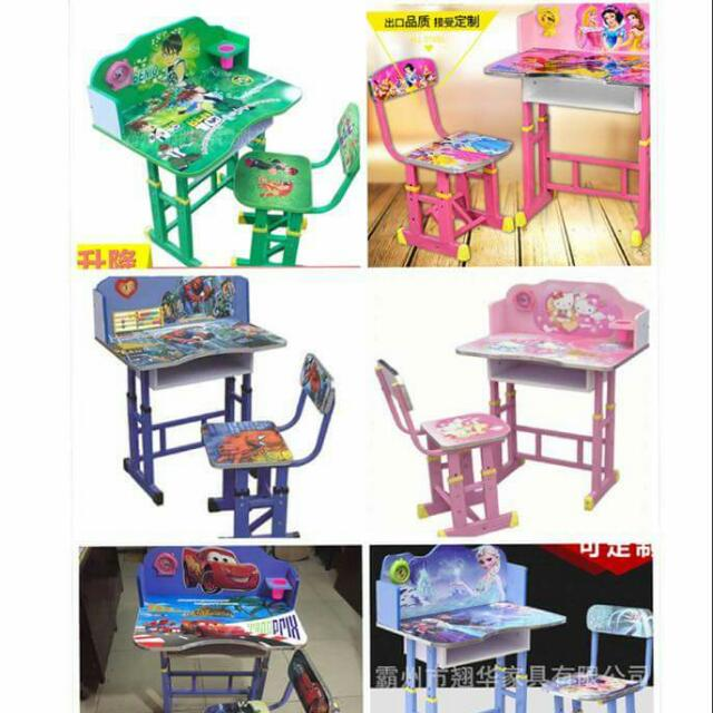 Cartoon Character Study Table & Chair