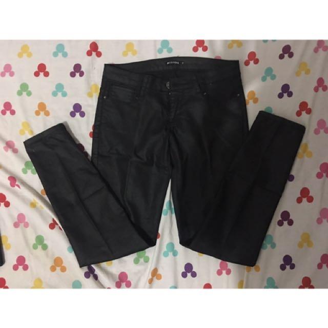 celana jeans colourbox (look like celana kulit)