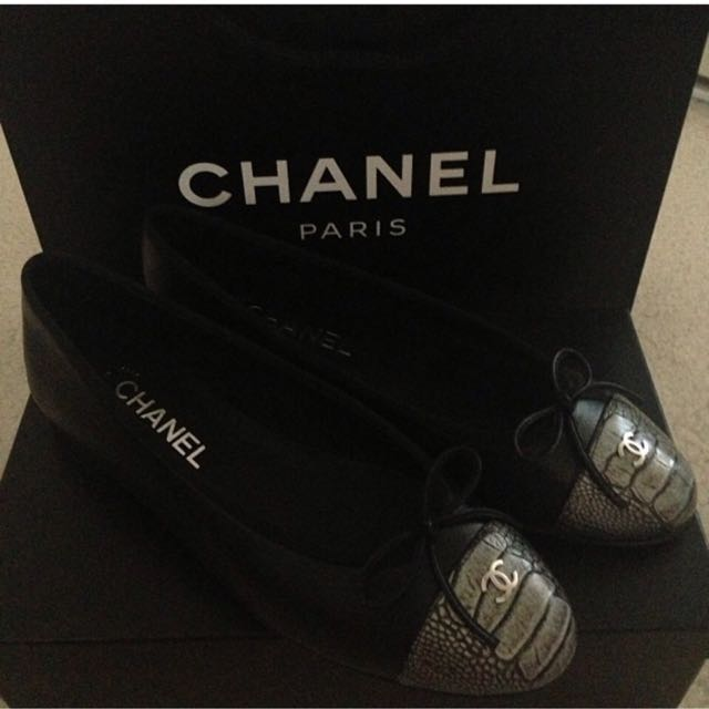 (正品)Chanel經典平底鞋