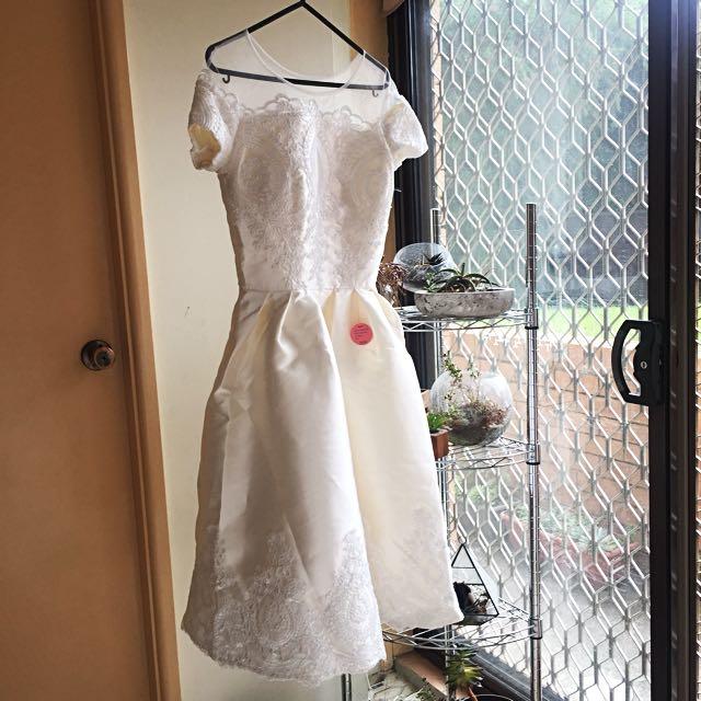 Chi Chi London Seraphina Dress White
