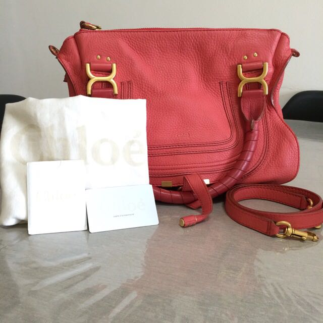 17f94438db5 Chloe Marcie Medium Satchel (Authentic), Women's Fashion, Bags ...