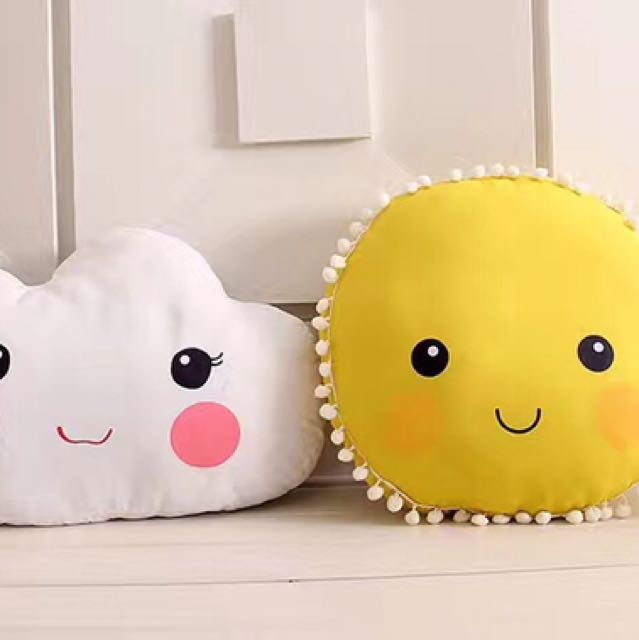 Cloud Pillow And Sun Pillow
