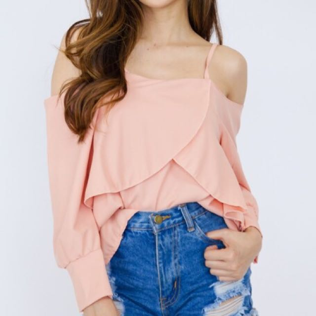 Cold Shoulder Long Sleeve Fairy Top