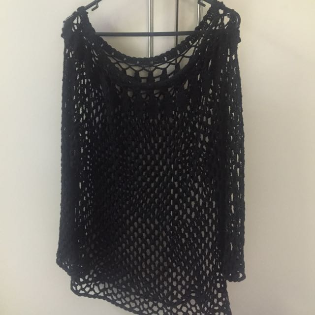 Crochet jumper dress