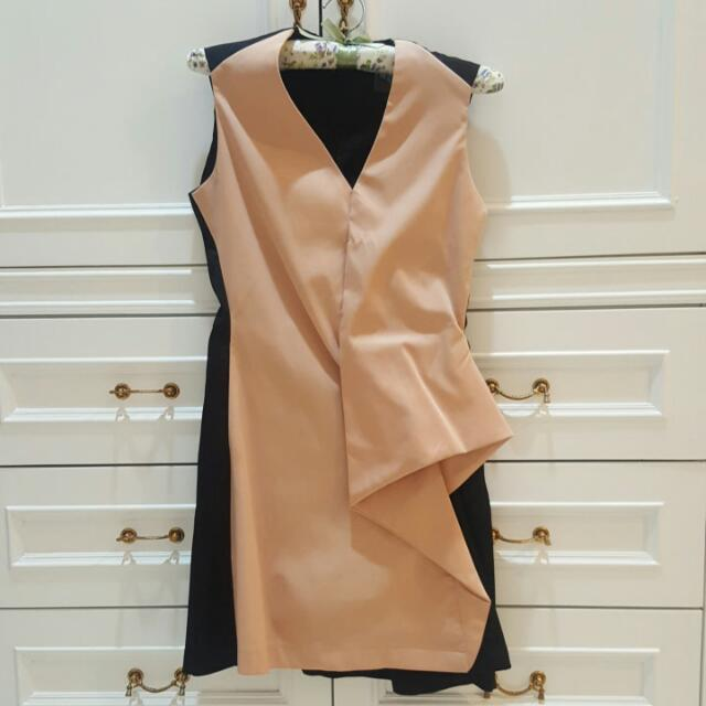 Dress Black Peach Size S