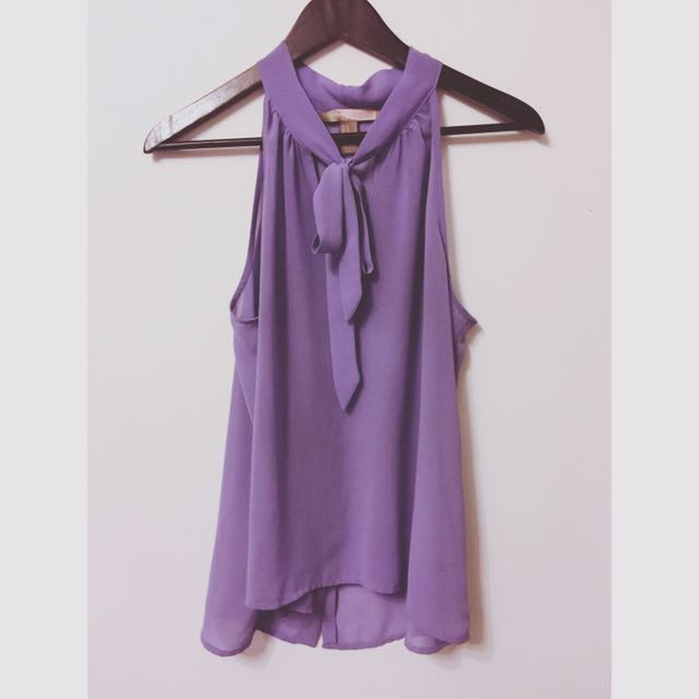 Dusty Purple Bow Top