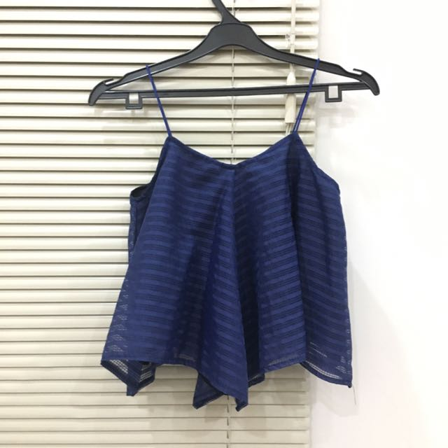 FLARE TOP NAVY