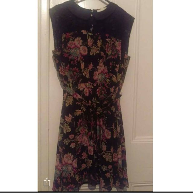 Fleur Wood Floral Dress