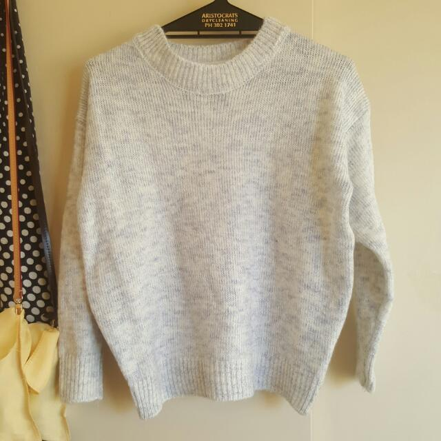 Fluffy Cable Knit Jumper