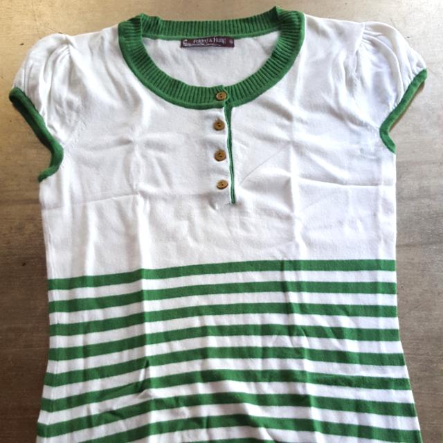 Folded & Hung Green Top