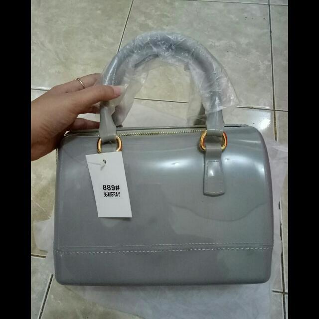 Furla Jelly Tabung (grey)