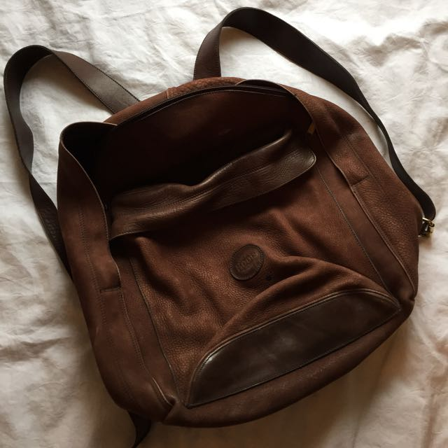 Genuine Leather Roots Backpack