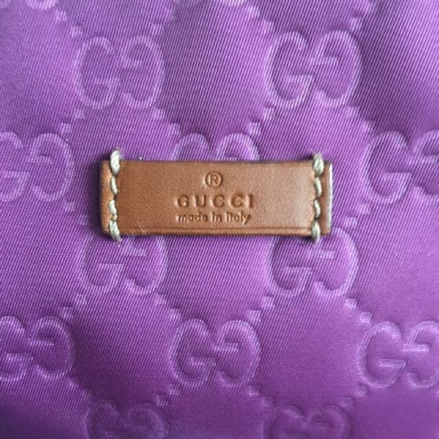 Gucci Nylon Purple Tote
