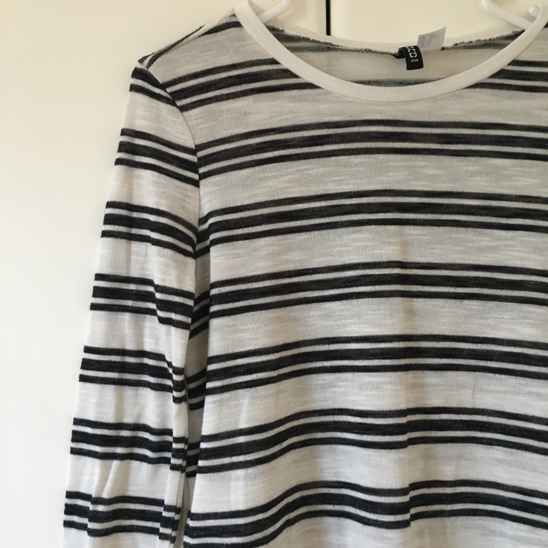 H&M B/W Striped Top - XS