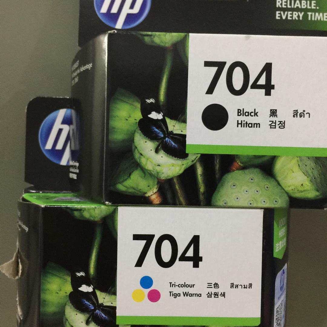 HP 704 Ink Cartridge - Black & Tri Color
