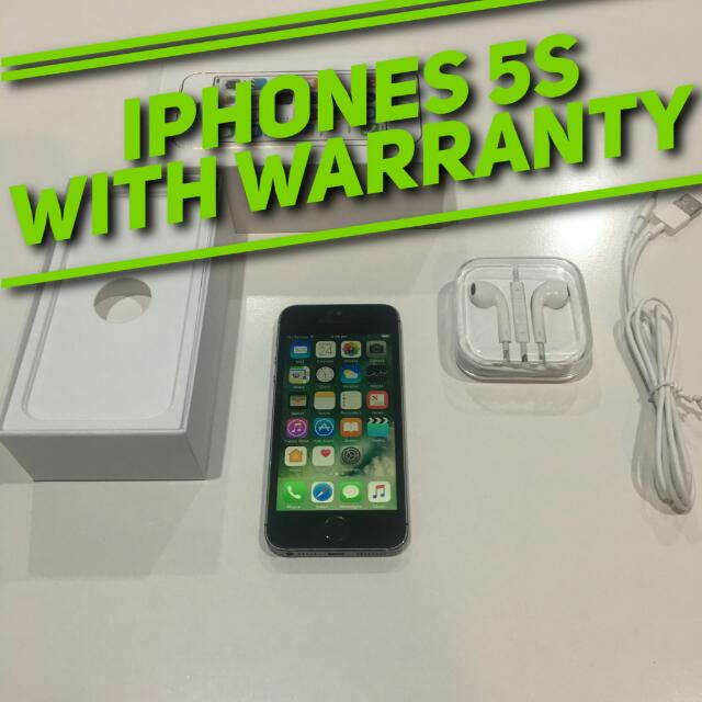 iPhone 5S. With Warranty. With Warranty