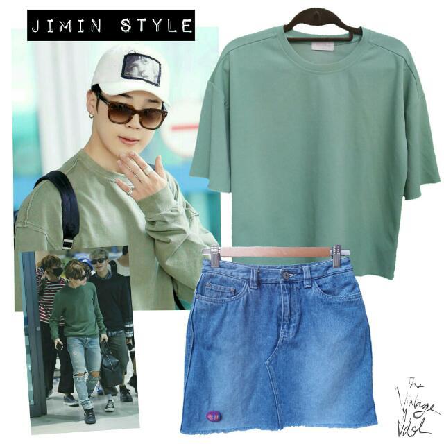 Jimin's Style Denim Skirt Only