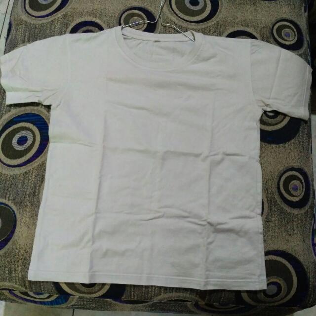 Kaos Oblong/Kaos Hitam & Putih Polos