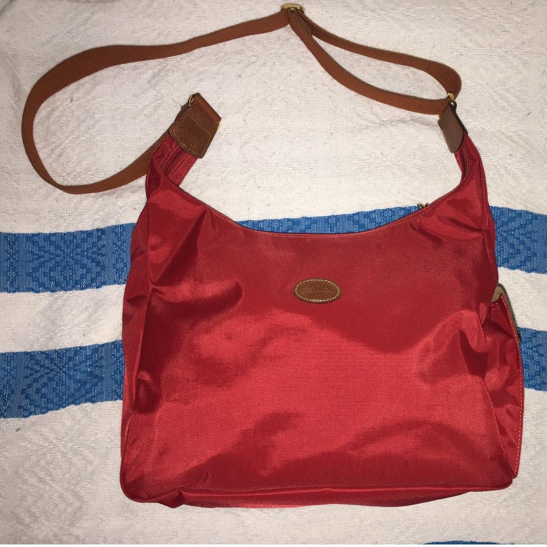 Long Champ Hobo Bag - Red
