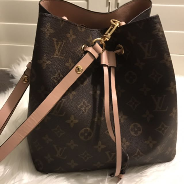 5852f368d3a3 Louis Vuitton Neo Noe Replica Immitation Copy Brown Monogram Rose ...