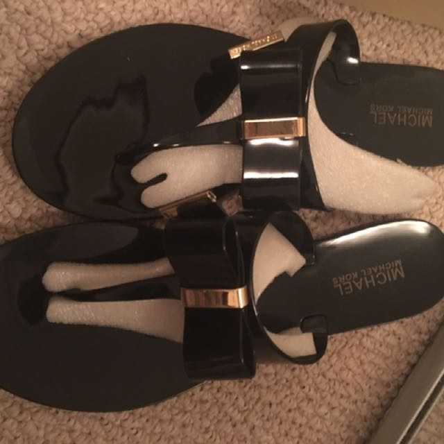 Michael Kors Kayden Sandals Size 9 In Black