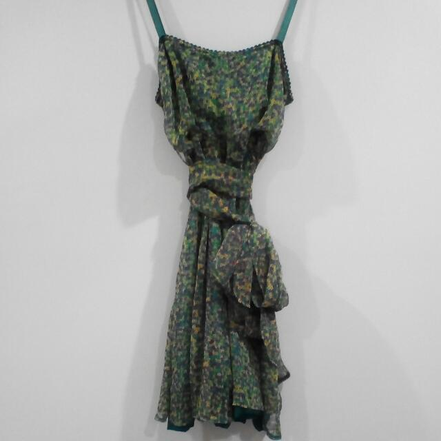 Multi/green Reversible Dress